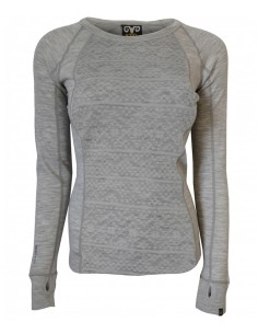 XTM LADIES MERINO JACQUARD GREY
